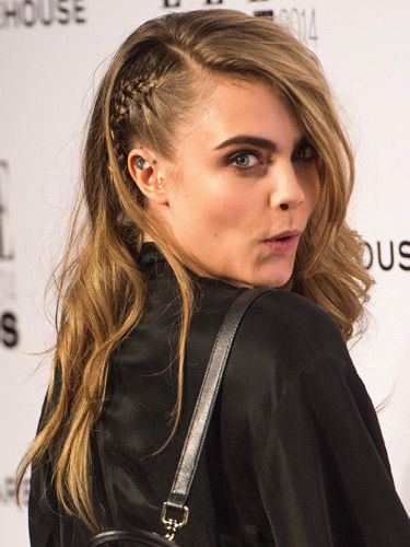"<p>Aah, Cara's fave; the faux-undercut braid. It makes the side-swept waves as gutsy as they are glamorous and shows off her ear tattoo nicely.<span style=""font-size: 10px;""> </span></p> <p><a href=""http://www.cosmopolitan.co.uk/fashion/news/elle-style-awards-red-carpet-2014"" target=""_blank"">10 AMAZING OUTFITS FROM THE ELLE AWARDS</a></p> <p><a href=""http://www.cosmopolitan.co.uk/beauty-hair/news/trends/celebrity-frow-hair-fashion-week"" target=""_self"">FRONT ROW HAIRSTYLES FROM FASHION WEEK</a></p> <p><a href=""http://www.cosmopolitan.co.uk/beauty-hair/news/styles/hair-trends-spring-summer-2014"" target=""_blank"">HUGE HAIR TRENDS FOR SPRING 2014</a></p>"