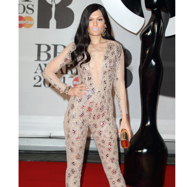 """<p>Oh, that Jessie J is SO shy and retiring. We really wish she'd wear something a bit more... y'know... STAND-OUT. Not this dull, beige Julien Macdonald sequin catsuit. Or those lilac lips. Meh.</p><p><a href=""""http://www.cosmopolitan.co.uk/fashion/news/baftas-red-carpet-2014?click=main_sr"""" target=""""_blank"""">SEE CELEBS LOOKING FINE AT THE BAFTAS 2014</a></p><p><a href=""""http://www.cosmopolitan.co.uk/fashion/news/celebs-new-york-fashion-week-aw14"""" target=""""_blank"""">CELEBRITY FRONT ROW FASHION AT LFW</a></p><p><a href=""""http://www.cosmopolitan.co.uk/fashion/news/cosmopolitan.co.uk/fashion/news/golden-globes-red-carpet-dresses?click=main_sr"""" target=""""_blank"""">RED CARPET AT THE GOLDEN GLOBES 2014</a></p>"""