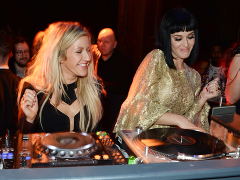 "<p>Possibly our favourite picture of the night, if not of ALL TIME, Ellie and Katy take to the decks and have a nice time.</p> <p><a href=""http://www.cosmopolitan.co.uk/fashion/news/brits-red-carpet-2014"" target=""_blank"">WHAT DID THE CELEBS WEAR ON THE BRITS RED CARPET?</a></p> <p><a href=""http://www.cosmopolitan.co.uk/fashion/news/celebs-new-york-fashion-week-aw14"" target=""_blank"">CELEBRITY FRONT ROW FASHION AT LFW</a></p> <p><a href=""http://www.cosmopolitan.co.uk/fashion/news/baftas-red-carpet-2014?click=main_sr"" target=""_blank"">SEE CELEBS LOOKING FINE AT THE BAFTAS 2014</a></p> <p> </p> <div style=""overflow: hidden; color: #000000; background-color: #ffffff; text-align: left; text-decoration: none;""> </div>"