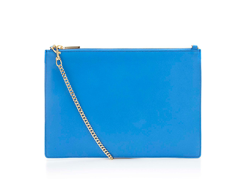 "<p>""In an attempt to de-clutter my life, this electric blue number will take me through to summer AND stop me from carrying the kitchen sink."" - Holly Coopey, Fashion Co-ordinator</p> <p>Leather chain pouch, £75, <a href=""http://www.whistles.co.uk/fcp/categorylist/dept/accessories-bags?resetFilters=true#product=903000061402"" target=""_blank"">whistles.co.uk</a></p> <p><a href=""http://www.cosmopolitan.co.uk/archive/fashion/shopping/new-in-store/0/8"" target=""_blank"">SHOP NEW IN STORE NOW</a></p> <p><a href=""http://www.cosmopolitan.co.uk/fashion/shopping/spring-fashion-trends-2014?page=1"" target=""_blank"">7 BIG FASHION TRENDS FOR SPRING 2014</a></p> <p><a href=""http://www.cosmopolitan.co.uk/fashion/shopping/mulberry-cara-delevingne-handbag-collection"" target=""_blank"">SEE CARA DELEVINGNE'S MULBERRY BAG COLLECTION</a></p>"