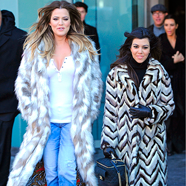 <p>Oh the coats! Khloe and Kourtney were filming for a new series of Keeping up with the Kardashians this week, and the dress code for the day was 'fierce fur'.</p>