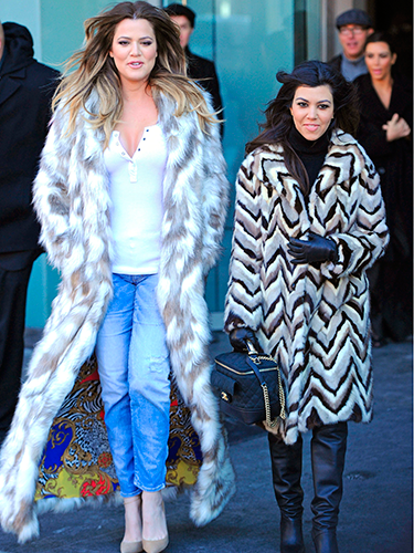 "<p>Oh the coats! Khloe and Kourtney were filming for a new series of Keeping up with the Kardashians this week, and the dress code for the day was 'fierce fur'.</p> <p><a href=""http://www.cosmopolitan.co.uk/celebs/entertainment/kids-reenact-oscar-best-film-nominations"" target=""_blank"">WATCH KIDS REENACT OSCAR-NOMINATED FILMS</a></p> <p><a href=""http://www.cosmopolitan.co.uk/celebs/celebrity-gossip/justin-timberlake-performing-new-york-pictures"" target=""_blank"">FIVE HOT PICS OF JUSTIN TIMBERLAKE IN CONCERT</a></p> <p><a href=""http://www.cosmopolitan.co.uk/celebs/entertainment/joseph-gordon-levitt-rise-pictures"" target=""_blank"">JOSEPH GORDON-LEVITT'S CAREER IN PICTURES</a></p>"