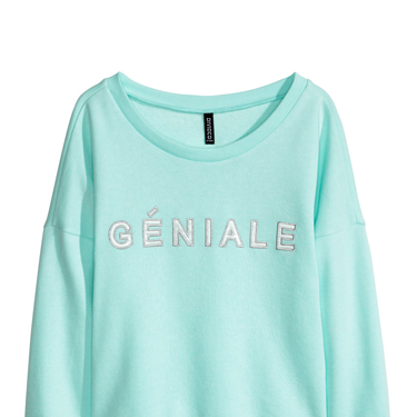 """<p>Wear this with jeans and bright trainers for off-duty dressing or with a pleated skirt and heels for an edgy evening look.</p><p>Slogan sweater, £14.99, <a href=""""http://www.hm.com/gb/product/27567?article=27567-A"""" target=""""_blank"""">hm.com</a></p><p><a href=""""http://www.cosmopolitan.co.uk/fashion/shopping/spring-fashion-trends-2014?page=1"""" target=""""_blank"""">7 BIG FASHION TRENDS FOR SPRING 2014</a></p><p><a href=""""http://www.cosmopolitan.co.uk/fashion/shopping/handbags-spring-fashion-high-street"""" target=""""_blank"""">12 HOT HANDBAGS FOR £75 OR LESS</a></p><p><a href=""""http://www.cosmopolitan.co.uk/fashion/shopping/sexy-bras-big-breasts"""" target=""""_blank"""">SHOP: 5 SEXY BRAS FOR BIG BOOBS</a></p>"""