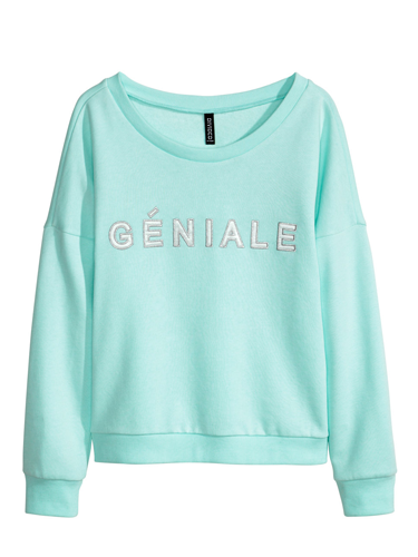 "<p>Wear this with jeans and bright trainers for off-duty dressing or with a pleated skirt and heels for an edgy evening look.</p> <p>Slogan sweater, £14.99, <a href=""http://www.hm.com/gb/product/27567?article=27567-A"" target=""_blank"">hm.com</a></p> <p><a href=""http://www.cosmopolitan.co.uk/fashion/shopping/spring-fashion-trends-2014?page=1"" target=""_blank"">7 BIG FASHION TRENDS FOR SPRING 2014</a></p> <p><a href=""http://www.cosmopolitan.co.uk/fashion/shopping/handbags-spring-fashion-high-street"" target=""_blank"">12 HOT HANDBAGS FOR £75 OR LESS</a></p> <p><a href=""http://www.cosmopolitan.co.uk/fashion/shopping/sexy-bras-big-breasts"" target=""_blank"">SHOP: 5 SEXY BRAS FOR BIG BOOBS</a></p>"