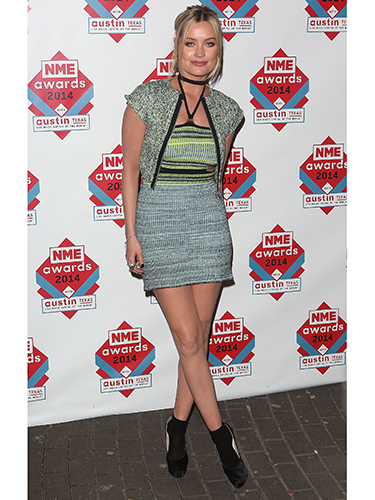 """<p>We love Laura Whitmore's little knitted number - unmistakeably a Mark Fast design. She teamed her blue and green minidress with a cute cropped jacket and ankle boots.</p> <p><a href=""""http://www.cosmopolitan.co.uk/beauty-hair/news/trends/celebrity-beauty/celebrity-beauty-hairstyles-nme-awards-2014"""" target=""""_blank"""">BEST CELEBRITY BEAUTY AT THE NME AWARDS</a></p> <p><a href=""""http://www.cosmopolitan.co.uk/fashion/celebrity/best-oscars-red-carpet-dresses-ever"""" target=""""_blank"""">12 BEST OSCAR DRESSES OF ALL TIME</a></p> <p><a href=""""http://www.cosmopolitan.co.uk/fashion/news/london-fashion-week-street-style-aw14"""" target=""""_blank"""">STREET STYLE FROM LONDON FASHION WEEK</a></p>"""