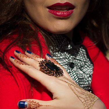 """<p>With nail art migrating to the cuticles this season, henna is having a moment too. We're copying Nathalie Osmann's work on the tips of our fingers and investing in a ring-bracelet. Stunning.</p><p><a href=""""http://www.cosmopolitan.co.uk/beauty-hair/news/trends/hair-makeup-trends-autumn-winter-2014"""" target=""""_self"""">BIG BEAUTY TRENDS FROM PARIS FASHION WEEK</a></p><p><a href=""""http://www.cosmopolitan.co.uk/beauty-hair/news/trends/celebrity-frow-hair-fashion-week"""" target=""""_self"""">FRONT ROW HAIRSTYLES - FASHION WEEK AW14</a></p><p><a href=""""http://www.cosmopolitan.co.uk/beauty-hair/news/trends/celebrity-beauty/celebrity-nail-art-manicures"""" target=""""_self"""">CELEBRITY NAIL ART MANICURE PICTURES</a></p>"""