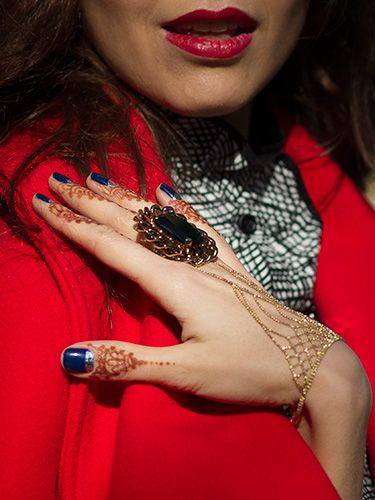 """<p>With nail art migrating to the cuticles this season, henna is having a moment too. We're copying Nathalie Osmann's work on the tips of our fingers and investing in a ring-bracelet. Stunning.</p> <p><a href=""""http://www.cosmopolitan.co.uk/beauty-hair/news/trends/hair-makeup-trends-autumn-winter-2014"""" target=""""_self"""">BIG BEAUTY TRENDS FROM PARIS FASHION WEEK</a></p> <p><a href=""""http://www.cosmopolitan.co.uk/beauty-hair/news/trends/celebrity-frow-hair-fashion-week"""" target=""""_self"""">FRONT ROW HAIRSTYLES - FASHION WEEK AW14</a></p> <p><a href=""""http://www.cosmopolitan.co.uk/beauty-hair/news/trends/celebrity-beauty/celebrity-nail-art-manicures"""" target=""""_self"""">CELEBRITY NAIL ART MANICURE PICTURES</a></p>"""