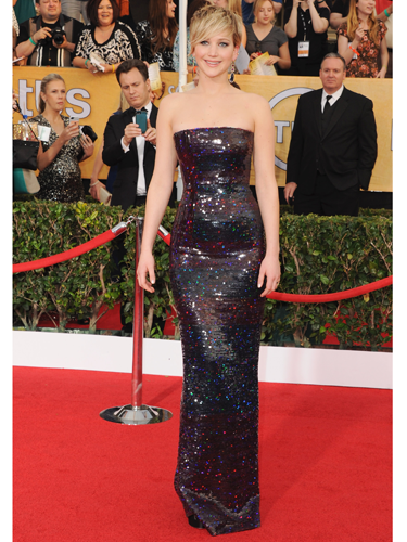 "<p>ZOMG JLaw looked AMAZING at the SAG Awards! She shone like a total star in a shimmering sequinned Christian Dior column dress - and can we take a moment to admire those magnificent Jennifer Meyer earrings? Classically glamorous glitz at its finest.</p> <p><a href=""http://www.cosmopolitan.co.uk/fashion/celebrity/critics-choice-awards-2014-best-dressed"" target=""_blank"">CRITCS' CHOICE AWARDS 2014: BEST DRESSED</a></p> <p><a href=""http://www.cosmopolitan.co.uk/fashion/celebrity/lupita-nyongo-who-is-she"" target=""_blank"">WHO'S THAT GIRL: LUPITA NYONG'O</a></p> <p><a href=""http://www.cosmopolitan.co.uk/fashion/love/"" target=""_blank"">VOTE ON CELEBRITY STYLE</a></p>"