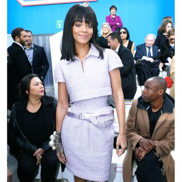 "<p>Never did we know head-to-toe quilted lilac separates could look so good. And never have we coveted a bum-bag so badly, thanks to RiRi's front row appearance at the <a href=""http://www.cosmopolitan.co.uk/fashion/news/cara-delevingne-chanel-supermarket-aw14"" target=""_blank"">Chanel supermarket</a> at Paris Fashion Week.</p>