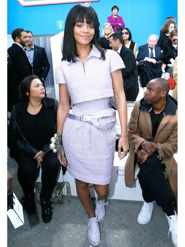 "<p>Never did we know head-to-toe quilted lilac separates could look so good. And never have we coveted a bum-bag so badly, thanks to RiRi's front row appearance at the <a href=""http://www.cosmopolitan.co.uk/fashion/news/cara-delevingne-chanel-supermarket-aw14"" target=""_blank"">Chanel supermarket</a> at Paris Fashion Week.</p> <p><a href=""http://www.cosmopolitan.co.uk/fashion/news/cara-delevingne-chanel-supermarket-aw14"" target=""_blank"">CARA DELEVINGNE WALKS AT CHANEL, DOES THE WEEKLY SHOP</a></p> <p><a href=""http://www.cosmopolitan.co.uk/fashion/news/london-fashion-week-street-style-aw14"" target=""_blank"">LONDON FASHION WEEK STREET STYLE</a></p> <p><a href=""http://www.cosmopolitan.co.uk/fashion/news/new-york-fashion-week-street-style-aw14"" target=""_blank"">NEW YORK FASHION WEEK STREET STYLE</a></p>"