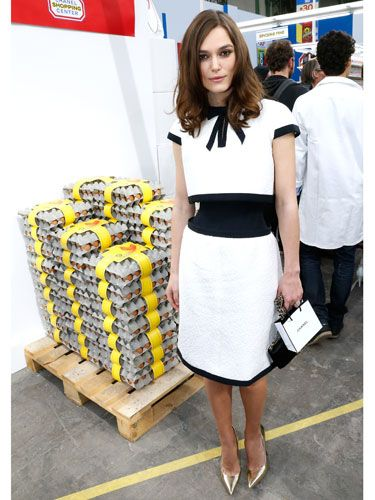 "<p>Er, HELLO Keira Knightley looking ever so ladylike and lovely at the Chanel show! Wearing a cute vintage-style monochrome Chanel dress (that matches her goody bag) and pointy metallic pumps, we DEMAND a high street version of this look be made IMMEDIATELY.</p> <p><a href=""http://www.cosmopolitan.co.uk/fashion/news/cara-delevingne-chanel-supermarket-aw14"" target=""_blank"">CARA DELEVINGNE WALKS AT CHANEL, DOES THE WEEKLY SHOP</a></p> <p><a href=""http://www.cosmopolitan.co.uk/fashion/news/london-fashion-week-street-style-aw14"" target=""_blank"">LONDON FASHION WEEK STREET STYLE</a></p> <p><a href=""http://www.cosmopolitan.co.uk/fashion/news/new-york-fashion-week-street-style-aw14"" target=""_blank"">NEW YORK FASHION WEEK STREET STYLE</a></p>"