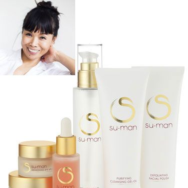"""<p>A former dancer, shiatsu and pilates practitioner&#x3B; Su-Man then decided to establish herself as the go-to celebrity facialist. This accolade has a lot to do with her famous 'facelift in an hour', which has gained her celebrity fans from all over the world.</p><p>Her new skincare range was designed to compliment this popular signature facial, and combines Eastern and Western skincare methods within a three-step system.</p><p>Su-Man told us: """"After four years I believe I have achieved a way to put my facial magic into a bottle and I'm thrilled that I can now share this with the world."""" So are we, Su-Man, so are we.</p><p><a href=""""http://www.su-man.com/html/index.php"""">Su-Man Skincare by Su-Man, from £37</a></p><p> </p><p><a href=""""http://www.cosmopolitan.co.uk/beauty-hair/beauty-tips/the-best-celebrity-facials-london-beauty-lab?click=main_sr"""">THE TOP 5 CELEBRITY FACIALS</a></p><p><a href=""""http://www.cosmopolitan.co.uk/beauty-hair/beauty-lab"""">VISIT THE COSMO BEAUTY LAB</a></p><p><a href=""""http://www.cosmopolitan.co.uk/beauty-hair/beauty-tips/cassie-powney-how-to-wear-bright-makeup"""">5 WAYS TO WEAR BRIGHT MAKEUP</a></p>"""