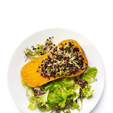 <p><strong>Aromatic stuffed butternut squash</strong></p>
