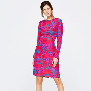 <p>Perhaps our favourite piece from the collection, this dress needs nothing else. Structured, flattering, and one of the season's key colour trends, all you'll need with this is a pair of heels and a cocktail. Perfection.</p>