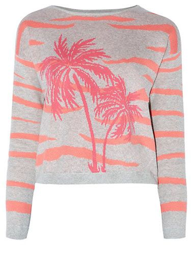 "<p>If you're dreaming of warmer weather - and can't afford a getaway - try this palm-tree print to keep you thinking of the beach.</p> <p>Grey Palm Tree and Animal Print Jumper, £22.99, <a href=""http://www.newlook.com/shop/womens/knitwear/grey-palm-tree-and-animal-print-jumper_298706704"" target=""_blank"">newlook.com</a></p> <p><a href=""http://www.cosmopolitan.co.uk/fashion/shopping/new-in-store-fashion-buys-march-2014"" target=""_blank"">12 OPTIONS FOR YOUR SATURDAY NIGHT STYLE</a></p> <p><a href=""http://www.cosmopolitan.co.uk/fashion/shopping/very-spring-collection"" target=""_blank"">10 HERO PIECES FOR SPRING</a></p> <p><a href=""http://www.cosmopolitan.co.uk/fashion/shopping/new-in-store/what-to-wear-this-week-03-03-14"" target=""_blank"">WHAT TO BUY THIS WEEK</a></p>"