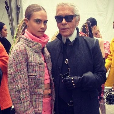 """<p>After walking the catwalk - or should we say, supermarket aisle - during the Chanel grocery store-themed show at Paris Fashion Week, Cara posted this snap of her and the legendary designer himself. """"<span><span data-reactid="""".r[0].[0].[1].[0].[0].[0].[0].[0].[0]""""><span data-reactid="""".r[0].[0].[1].[0].[0].[0].[0].[0].[0].[1].[1].[0].[0].[0].[0].[1].[2][1]""""><span data-reactid="""".r[0].[0].[1].[0].[0].[0].[0].[0].[0].[1].[1].[0].[0].[0].[0].[1].[2][1].[0]"""">I ❤ Karl!"""" she wrote on Instagram. """"Well done to everyone at Chanel! Thanks again for another amazing show x</span></span></span></span>.""""</p><p><a href=""""http://www.cosmopolitan.co.uk/celebs/celebrity-gossip/oscars-week-2014-celebrity-gossip"""" target=""""_blank"""">INSIDE THE OSCARS PARTIES</a></p><p><a href=""""http://www.cosmopolitan.co.uk/celebs/celebrity-gossip/celebrity-twitter-instagram-bafta-photos"""" target=""""_blank"""">THE BAFTAS IN CELEBRITY INSTAGRAMS</a></p><p><a href=""""http://www.cosmopolitan.co.uk/celebs/celebrity-gossip/matthew-mcconaughey-school-prom-photo"""" target=""""_blank"""">MATTHEW MCCONAUGHEY'S PROM PIC GOES VIRAL</a></p>"""