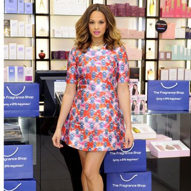 """<p>Alesha Dixon themed her frock to her new fragrance at the London launch. Wearing a bright House of Holland mini-dress, she looked bloomin' beautiful (sorrynotsorry). Motherhood clearly suits her.</p><p><a href=""""http://www.cosmopolitan.co.uk/fashion/shopping/new-in-store/what-to-wear-this-week-10-03-14"""" target=""""_blank"""">VOTE ON CELEBRITY STYLE</a></p><p><a href=""""http://www.cosmopolitan.co.uk/fashion/shopping/new-in-store/what-to-wear-this-week-10-03-14"""" target=""""_blank"""">NEW IN STORE: WHAT TO BUY RIGHT NOW</a></p><p><a href=""""http://www.cosmopolitan.co.uk/fashion/shopping/spring-summer-fashion-trends-2014"""" target=""""_blank"""">7 BIG FASHION TRENDS FOR SPRING</a></p>"""