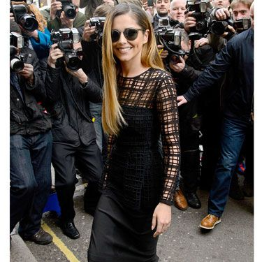 """<p>Chezza returned to the spotlight in a lattice-cut Lela Rose peplum dress and <span id=""""slideshowimagecaption4"""" class=""""slideshowimagecaption hide"""" style=""""display: inline&#x3B;"""">amazing Christian Louboutin 'Decollette' pumps</span> (plus superstar shades) at the X Factor photocall in London. SWOON.</p><p><a href=""""http://www.cosmopolitan.co.uk/fashion/shopping/new-in-store/what-to-wear-this-week-10-03-14"""" target=""""_blank"""">VOTE ON CELEBRITY STYLE</a></p><p><a href=""""http://www.cosmopolitan.co.uk/fashion/shopping/new-in-store/what-to-wear-this-week-10-03-14"""" target=""""_blank"""">NEW IN STORE: WHAT TO BUY RIGHT NOW</a></p><p><a href=""""http://www.cosmopolitan.co.uk/fashion/shopping/spring-summer-fashion-trends-2014"""" target=""""_blank"""">7 BIG FASHION TRENDS FOR SPRING</a></p>"""