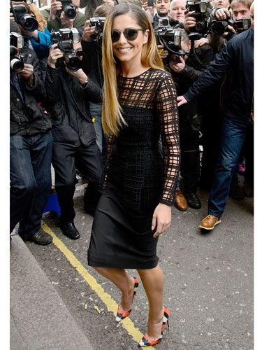 "<p>Chezza returned to the spotlight in a lattice-cut Lela Rose peplum dress and <span id=""slideshowimagecaption4"" class=""slideshowimagecaption hide"" style=""display: inline;"">amazing Christian Louboutin 'Decollette' pumps</span> (plus superstar shades) at the X Factor photocall in London. SWOON.</p> <p><a href=""http://www.cosmopolitan.co.uk/fashion/shopping/new-in-store/what-to-wear-this-week-10-03-14"" target=""_blank"">VOTE ON CELEBRITY STYLE</a></p> <p><a href=""http://www.cosmopolitan.co.uk/fashion/shopping/new-in-store/what-to-wear-this-week-10-03-14"" target=""_blank"">NEW IN STORE: WHAT TO BUY RIGHT NOW</a></p> <p><a href=""http://www.cosmopolitan.co.uk/fashion/shopping/spring-summer-fashion-trends-2014"" target=""_blank"">7 BIG FASHION TRENDS FOR SPRING</a></p>"