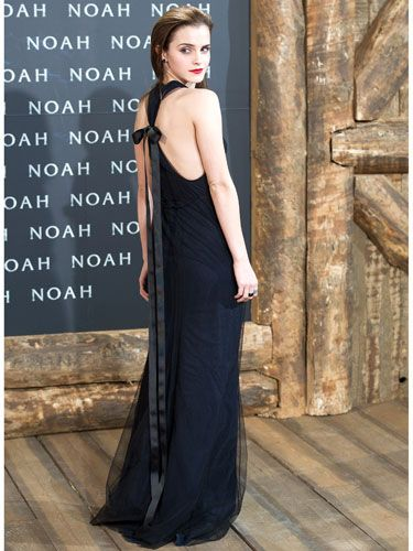 "<p>Emma Watson did gothic glam at the Berlin premiere of her new film Noah in floor-length Wes Gordon with a sexy racer back, topped-off with a bow. Her slicked-back hair and scarlet lips made for an edgy look. <span>Hermione</span> who-ie?</p> <p><a href=""http://www.cosmopolitan.co.uk/fashion/shopping/new-in-store/what-to-wear-this-week-10-03-14"" target=""_blank"">VOTE ON CELEBRITY STYLE</a></p> <p><a href=""http://www.cosmopolitan.co.uk/fashion/shopping/new-in-store/what-to-wear-this-week-10-03-14"" target=""_blank"">NEW IN STORE: WHAT TO BUY RIGHT NOW</a></p> <p><a href=""http://www.cosmopolitan.co.uk/fashion/shopping/spring-summer-fashion-trends-2014"" target=""_blank"">7 BIG FASHION TRENDS FOR SPRING</a></p>"