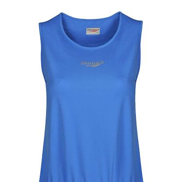 <p>Steer clear of tight tops for a longer vest that won't ride up. This drop waist elongates your middle, and the drawstring prevents muffin-top flashes. Add running tights to lengthen your legs and balance out the looser top.</p>