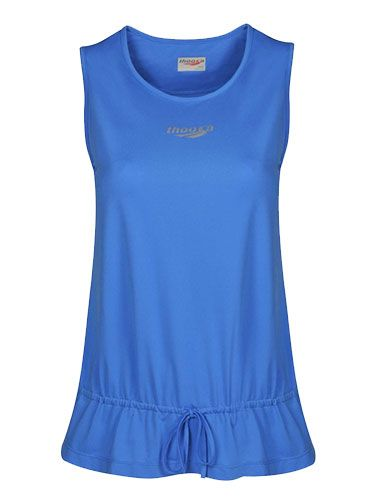 "<p>Steer clear of tight tops for a longer vest that won't ride up. This drop waist elongates your middle, and the drawstring prevents muffin-top flashes. Add running tights to lengthen your legs and balance out the looser top.</p> <p>Top, £26, <a href=""http://www.thoosa.com/tops"" target=""_blank"">Thoosa</a></p> <p>Capri tights, £30, <a href=""http://shop.hellyhansen.com/gb/item/w-hh-dry-3-4-pant-48639/?t_type=src&t_type=cat"" target=""_blank"">Helly Hansen</a></p> <p><a href=""http://www.cosmopolitan.co.uk/diet-fitness/fitness/how-to-find-the-perfect-sports-bra"" target=""_blank"">CHOOSE THE RIGHT SPORTS BRA</a></p> <p><a href=""http://www.cosmopolitan.co.uk/fashion/shopping/workout-clothes-stylish-women?click=main_sr"" target=""_blank"">WORKOUT CLOTHES YOU'LL WANT TO WEAR</a></p> <p><a href=""http://www.cosmopolitan.co.uk/fashion/news/yoga-pants-wear-to-work?click=main_sr"" target=""_blank"">SPORTS GEAR YOU CAN WEAR TO WORK</a></p>"