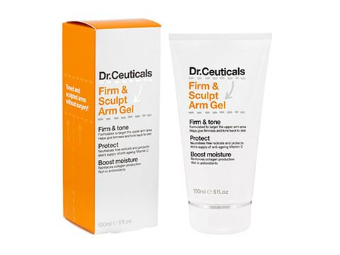 "<p>A rub-on product is no replacement for a regular exercise routine BUT we're big believers that targeting your arms with a firming gel or moisturiser can make a difference to tone and appearance.</p> <p>We're currently LOVING <a title=""Firm & Sculpt Arm Gel from Dr.Ceuticals"" href=""http://www.boots.com/en/Dr-Ceuticals-Firm-Sculpt-Arm-Gel-150ml_1277204/"" target=""_blank"">Firm & Sculpt Arm Gel from Dr.Ceuticals</a> (Boots, £10.19). It's easily absorbed, moisturising and non-sticky, making it simple to incorporate into your morning or evening beauty routine. Antioxidant-rich, it also reinforces collagen production to help guard against the droopy bingo wings look, while helping firm up and tone to slow down the signs of ageing.</p> <p>Definitely worth throwing into the mix in your summer arms campaign.</p> <p><a href=""http://www.cosmopolitan.co.uk/diet-fitness/fitness/flatten-your-stomach-with-pilates"" target=""_blank"">FLATTEN YOUR TUMMY WITH PILATES</a></p> <p><a href=""http://www.cosmopolitan.co.uk/diet-fitness/fitness/at-home-workout-that-girl-charli-cohen-christina-howells"" target=""_blank"">THE BUSY GIRL'S WORKOUT</a></p> <p><a href=""http://www.cosmopolitan.co.uk/diet-fitness/fitness/how-to-get-the-most-effective-workout"" target=""_blank"">MAKE YOUR WORKOUT MORE EFFECTIVE</a></p>"
