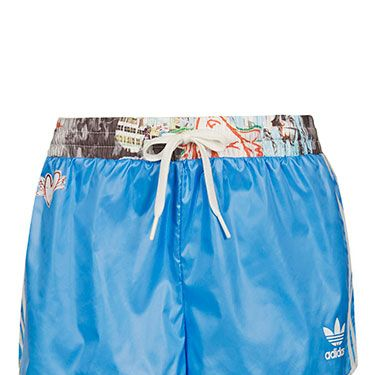 <p>No matter how red, sweaty and out of breath you are, you'll still look awesome in these limited edition shorts from Topshop's collaboration with Adidas Originals. The collection is selling out fast, so pick up this blue pair PRONTO.</p>