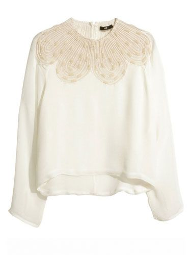 "<p>If you're looking for a step beyond the white shirt, try this beautiful beaded blouse from H&M, which tap's into this season's laidback boho vibes a treat.</p> <p>Beaded blouse, £29.99, <a href=""http://www.hm.com/gb/product/26159?article=26159-A"" target=""_blank"">hm.com</a></p> <p><a href=""http://www.cosmopolitan.co.uk/fashion/shopping/spring-shoes-fashion-high-street"" target=""_blank"">STEP INTO NEW SEASON: 10 PAIRS OF SPRING-LIKE SHOES</a></p> <p><a href=""http://www.cosmopolitan.co.uk/fashion/shopping/handbags-spring-fashion-high-street"" target=""_blank"">NEW SEASON ARM CANDY: 12 HOT HANDBAGS</a></p> <p><a href=""http://www.cosmopolitan.co.uk/fashion/shopping/spring-fashion-trends-2014?page=1"" target=""_blank"">7 BIG FASHION TRENDS FOR SPRING 2014</a></p>"
