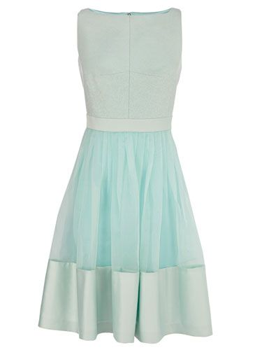 """<p>Pastels might be big news for spring/summer 2014, but they've always been popular in wedding land. Thanks to its classic nipped-in silhouette, this delicate mint frock, with its pretty sheer panel, is a modern twist on an ultra-feminine style.</p> <p>Alberta dress, £135, <a href=""""http://www.coast-stores.com/alberta-dress/all-dresses/coast/fcp-product/2224857252"""" target=""""_blank"""">Coast-stores.com</a></p> <p><a href=""""http://www.cosmopolitan.co.uk/fashion/shopping/wedding-dress-trends-2014%2010%20"""" target=""""_blank"""">SS14 WEDDING DRESS TRENDS</a></p> <p><a href=""""http://www.cosmopolitan.co.uk/fashion/shopping/top-ten-wedding-dresses-on-film%20"""" target=""""_blank"""">BEST WEDDING DRESSES FROM THE FILMS</a></p> <p><a href=""""http://www.cosmopolitan.co.uk/blogs/cosmo-blog-awards-2013/rock-n-roll-bride-best-alternative-wedding-ideas-photos-tattoos-blog-awards?click=main_sr"""" target=""""_blank"""">ROCK N ROLL BRIDE'S BEST EVER WEDDINGS</a></p>"""