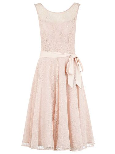 """<p>Lace, prom and nude styles never date - and this dress combines all three. It's actually more of a pale pink shade in the flesh, which is a winner for most complexions. Trust us, you'll be swishing around in this number all night. Just let the bride have the first dance, okay?</p> <p>Kaliko lace prom dress, £149, <a href=""""http://www.johnlewis.com/kaliko-lace-prom-dress-pink/p1239702"""" target=""""_blank"""">johnlewis.com</a></p> <p><a href=""""http://www.cosmopolitan.co.uk/fashion/shopping/wedding-dress-trends-2014"""" target=""""_blank"""">SS14 WEDDING DRESS TRENDS</a></p> <p><a href=""""http://www.cosmopolitan.co.uk/fashion/shopping/top-ten-wedding-dresses-on-film%20"""" target=""""_blank"""">BEST WEDDING DRESSES FROM THE FILMS</a></p> <p><a href=""""http://www.cosmopolitan.co.uk/blogs/cosmo-blog-awards-2013/rock-n-roll-bride-best-alternative-wedding-ideas-photos-tattoos-blog-awards?click=main_sr"""" target=""""_blank"""">ROCK N ROLL BRIDE'S BEST EVER WEDDINGS</a></p>"""