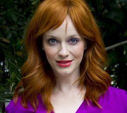 <p>Leading the charge was foxy redhead Christina Hendricks, who worked a Charlie's Angels vibe in her purple jumpsuit.</p>