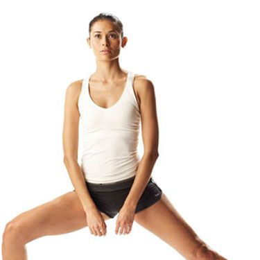 """<p>Works every inch of your thighs.</p><p>Stand with feet hip-width apart, then take a big step to the side with your right foot.</p><p>Lower into a lunge position. Your right knee should be behind your toes, your back straight and your tummy lifted.</p><p>Pushing through your right heel, return to the starting position.</p><p>Repeat the step, but this time lunge your right foot forward, then your left foot to the side, and finally your left foot backwards until you've completed four lunges to cover 360°.</p><p><a href=""""http://www.cosmopolitan.co.uk/diet-fitness/fitness/miranda-kerr-on-getting-bikini-ready"""" target=""""_blank"""">MIRANDA KERR'S BODY SECRETS</a></p><p><a href=""""http://www.cosmopolitan.co.uk/diet-fitness/fitness/20-minute-summer-workout"""" target=""""_blank"""">THE 20 MINUTE SUMMER WORKOUT</a></p><p><a href=""""http://www.cosmopolitan.co.uk/diet-fitness/fitness/motivational-tips-for-long-distance-running"""" target=""""_blank"""">GET MOTIVATED FOR LONG DISTANCE RUNNING</a></p>"""