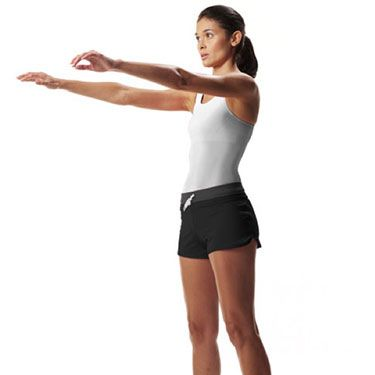 """<p>Increases strength and builds lean muscles from your calves to your glutes.</p><p>Stand with your feet shoulder-width apart and hold both arms straight out in front of you.</p><p>Squat down, squeezing your buttocks as you do so and using your arms to help you balance. Then, as you bring yourself back up, lift up onto your toes and put your arms out in front of you again.</p><p>Hold this position for a couple of seconds, then lower into the next squat.</p><p>Do three sets of 15 reps.</p><p><a href=""""http://www.cosmopolitan.co.uk/diet-fitness/fitness/miranda-kerr-on-getting-bikini-ready"""" target=""""_blank"""">MIRANDA KERR'S BODY SECRETS</a></p><p><a href=""""http://www.cosmopolitan.co.uk/diet-fitness/fitness/20-minute-summer-workout"""" target=""""_blank"""">THE 20 MINUTE SUMMER WORKOUT</a></p><p><a href=""""http://www.cosmopolitan.co.uk/diet-fitness/fitness/motivational-tips-for-long-distance-running"""" target=""""_blank"""">GET MOTIVATED FOR LONG DISTANCE RUNNING</a></p>"""