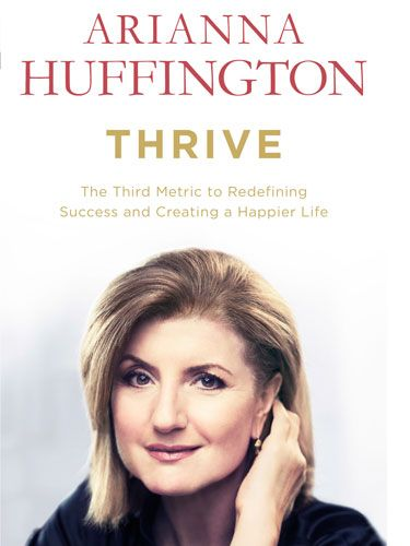 """<p><em><strong>The Third Metric to Redefining Success and Creating a Happier Life</strong></em></p> <p><strong>by Arianna Huffington</strong></p> <p><strong>£16.99, WH Allen</strong></p> <p>Arianna Huffington's new book, <a href=""""http://www.amazon.co.uk/Thrive-Redefining-Success-Creating-Happier/dp/0753555409/ref=sr_1_1?s=books&ie=UTF8&qid=1397044038&sr=1-1&keywords=thrive"""" target=""""_blank"""">Thrive</a>, is another reaction to the author suffering from burn-out. For Arianna Huffington, exhaustion caused her to collapse and break her cheekbone, injuring her eye and giving her the wake-up call she needed to transform her life. From the publishers of Sheryl Sandberg's<a href=""""http://www.amazon.co.uk/Lean-Women-Work-Will-Lead/dp/0753541629/ref=sr_1_1?s=books&ie=UTF8&qid=1397044111&sr=1-1&keywords=lean+in"""" target=""""_blank""""> Lean In</a>, this is another book about being a powerful modern woman breaking boundaries in the workplace, but Huffington is encouraging us to look for a more fulfilling way of life at home and at work.</p> <p>Packed with facts and stats to inspire, she celebrates companies who prioritise their employees' health and wellbeing by providing better health benefits, yoga classes, meditation rooms, nap stations (we know, we want one too!), and healthy snacks.</p> <p>Interspersed with quotes from leading psychologists, entrepreneurs, ancient poets and Greek legends, she praises the benefits of meditation, spending time with animals, catching up on sleep and volunteering for charitable causes. She even encourages readers to have more conversations about death. We know it might sound a bit 'out there', but Thrive is a refreshing, inspiring and uplifting read form one of the worlds most successful women (that's successful in every sense of the word). </p>"""