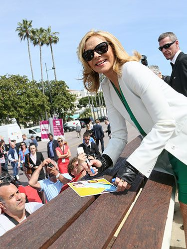 "<p>Samantha Jones - SORRY - Kim Cattrall looked very glamorous while signing autographs at a photocall for her new film Sensitive Skin. We <3 her.</p> <p><a href=""http://www.cosmopolitan.co.uk/celebs/celebrity-gossip/jessie-j-bisexuality-phase-twitter"" target=""_blank"">JESSIE J HITS BACK OVER CALLING BISEXUALITY A ""PHASE""</a></p> <p><a href=""http://www.cosmopolitan.co.uk/celebs/celebrity-gossip/cara-delevingne-taylor-swift-new-york"" target=""_blank"">TAYLOR SWIFT AND CARA DELEVINGNE HANG OUT IN NEW YORK</a></p> <p><a href=""http://www.cosmopolitan.co.uk/celebs/celebrity-gossip/rihanna-drake-awkward-hug-basketball"" target=""_blank"">RIHANNA AND DRAKE SHARE AN AWKWARD HUG AT THE BASKETBALL</a></p>"