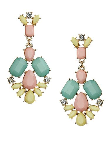 """<p>These chandelier-style earrings give you all the colours of the [pastel] rainbow in one hit. Wear with an up-do to show them off.</p> <p>Pastel stone drop earrings, £12.50, <a href=""""http://www.topshop.com/webapp/wcs/stores/servlet/ProductDisplay?searchTerm=pastel&storeId=12556&productId=14248086&urlRequestType=Base&categoryId=&langId=-1&productIdentifier=product&catalogId=33057"""" target=""""_blank"""">Topshop.com</a></p> <p><a href=""""http://www.cosmopolitan.co.uk/fashion/shopping/how-to-style-the-midi-skirt-trend-top-tips"""" target=""""_blank"""">10 WAYS TO STYLE THE MIDI SKIRT</a></p> <p><a href=""""http://www.cosmopolitan.co.uk/fashion/shopping/Kate-Moss-Topshop-collection-spring-summer-2014-best-pieces"""" target=""""_blank"""">KATE MOSS FOR TOPSHOP: THE EDIT</a></p> <p><a href=""""http://www.cosmopolitan.co.uk/fashion/shopping/how-to-wear-boyfriend-jeans"""" target=""""_blank"""">BOYFRIEND JEANS: THE NEED-TO-KNOW</a></p>"""