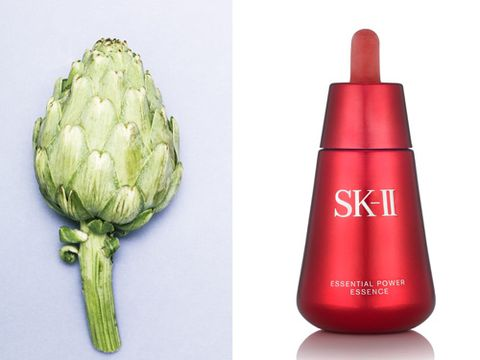 "<p><strong>Spotted in: </strong>SKII Essential Power Essence, £117 <a href=""http://www.harrods.com"" target=""_blank"">harrods.com</a></p> <p><strong>Why?</strong> ""Artichoke has long been known for its beneficial effects on skin,"" says the SKII press release. Well, call me an idiot but that's some universal knowledge that passed me by completely. A quick google tells me the bulb is full of antioxidants and peptides, and also features skincare hero niacinamide – does sound like an age-busting plant to me.</p> <p><strong>What's it like?</strong> SKII is a master of fairy-light textures that refine and brighten skin and these plumping, hydrating drops are no exception. Pitera, the brands' Sake-derived hero ingredient, is in here too, and that stuff definitely makes skin more translucent.</p>"