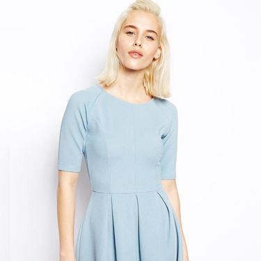 """<p>Pastels are everywhere this spring. This pale blue number is a demure, ladylike choice and will look great with some cat eye sunglasses.</p><p>Pale blue skater dress, £30, <a href=""""http://www.asos.com/ASOS/ASOS-Textured-Skater-Dress/Prod/pgeproduct.aspx?iid=3393628&cid=2623&Rf900=1465&sh=0&pge=1&pgesize=36&sort=3&clr=Blue"""" target=""""_blank"""">Asos.com</a></p><p><a href=""""http://www.cosmopolitan.co.uk/fashion/shopping/how-to-style-the-midi-skirt-trend-top-tips"""" target=""""_blank"""">10 WAYS TO STYLE THE MIDI SKIRT</a></p><p><a href=""""http://www.cosmopolitan.co.uk/fashion/shopping/Kate-Moss-Topshop-collection-spring-summer-2014-best-pieces"""" target=""""_blank"""">KATE MOSS FOR TOPSHOP: THE EDIT</a></p><p><a href=""""http://www.cosmopolitan.co.uk/fashion/shopping/how-to-wear-boyfriend-jeans"""" target=""""_blank"""">BOYFRIEND JEANS: THE NEED-TO-KNOW</a></p>"""