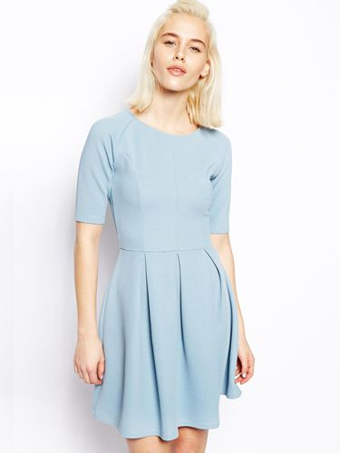 "<p>Pastels are everywhere this spring. This pale blue number is a demure, ladylike choice and will look great with some cat eye sunglasses.</p> <p>Pale blue skater dress, £30, <a href=""http://www.asos.com/ASOS/ASOS-Textured-Skater-Dress/Prod/pgeproduct.aspx?iid=3393628&cid=2623&Rf900=1465&sh=0&pge=1&pgesize=36&sort=3&clr=Blue"" target=""_blank"">Asos.com</a></p> <p><a href=""http://www.cosmopolitan.co.uk/fashion/shopping/how-to-style-the-midi-skirt-trend-top-tips"" target=""_blank"">10 WAYS TO STYLE THE MIDI SKIRT</a></p> <p><a href=""http://www.cosmopolitan.co.uk/fashion/shopping/Kate-Moss-Topshop-collection-spring-summer-2014-best-pieces"" target=""_blank"">KATE MOSS FOR TOPSHOP: THE EDIT</a></p> <p><a href=""http://www.cosmopolitan.co.uk/fashion/shopping/how-to-wear-boyfriend-jeans"" target=""_blank"">BOYFRIEND JEANS: THE NEED-TO-KNOW</a></p>"