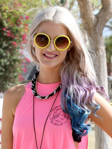"<p>Pretty meets tough with these streaks of blue and purple through blonde locks, and you can fake it with colour chalks  if you have light, longer hair. The curls give it a glossy effect that looks perfectly groomed, and even when they start to drop, they'll twist into beachy waves. </p> <p><a href=""http://cosmopolitan.co.uk/beauty-hair/news/styles/festival-hair-ideas-topknot-pin-jewellery?click=main_sr"" target=""_blank"">THE MUST-HAVE FESTIVAL HAIR ACCESSORY</a></p> <p><a href=""http://cosmopolitan.co.uk/beauty-hair/news/beauty-news/how-to-do-festival-plait-hairstyle?click=main_sr"" target=""_blank"">HAIR HOW-TO: FESTIVAL PLAITS</a></p> <p><a href=""http://cosmopolitan.co.uk/beauty-hair/news/styles/the-best-festival-hairstyles?click=main_sr"" target=""_blank"">THE BEST FESTIVAL HAIRSTYLES</a></p>"