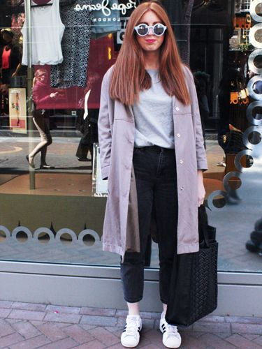 """<p>Grace, fashion buyer assistant.</p> <p>Sample sale coat, Topshop jeans, Uniqlo T-shirt, Zara round sunglasses.</p> <p><a href=""""http://www.cosmopolitan.co.uk/fashion/shopping/Coachella-festival-street-style-2014-pictures"""" target=""""_blank"""">SEE HOW THEY'RE WEARING IT AT COACHELLA 2014</a></p> <p><a href=""""http://www.cosmopolitan.co.uk/fashion/shopping/10-spring-dresses-under-30-pounds-ss14"""" target=""""_blank"""">10 BEST SPRING DRESSES UNDER £30</a></p> <p><a href=""""http://www.cosmopolitan.co.uk/fashion/shopping/5-pastel-trend-accessories-spring-summer-2014"""" target=""""_blank"""">PASTEL-PRETTY ACCESSORIES TO BUY NOW</a></p> <p>Picture by Charlie Ashfield.</p>"""