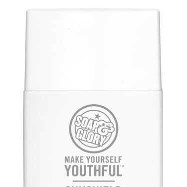 <p><strong>THEY SAY: </strong>Introducing the new Make Yourself Youthful Sunshield Superfluid SPF50+ from Soap & Glory, which offers outstanding protection in a super-lightweight, translucent SPF 50+ UVA/UVB formula. With a practically imperceptible texture, it's our best-ever sun protection base for your face.<strong></strong></p>