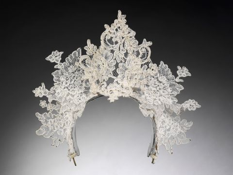 "<p>Antique lace tiara by Philip Tracey, London, 2008.</p> <p><a href=""http://www.cosmopolitan.co.uk/fashion/shopping/12-incredible-high-street-wedding-dresses-budget"" target=""_self"">12 INCREDIBLE HIGH STREET WEDDING DRESSES </a></p> <p><a href=""http://www.cosmopolitan.co.uk/fashion/shopping/short-bridesmaids-dresses-wear-again-uk"" target=""_blank"">SHORT BRIDESMAID DRESSES YOU CAN WEAR AGAIN </a></p> <p><a href=""http://www.cosmopolitan.co.uk/fashion/shopping/10-wedding-guest-outfits-from-the-high-street"" target=""_blank"">10 HIGH STREET WEDDING GUEST DRESSES</a></p>"