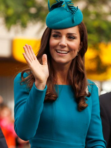 "<p>The Duchess opts for a turquoise Emilia Wickstead dress to start her day in Dunedin, New Zealand.</p> <p><strong>MORE ROYAL SHENANIGANS:</strong></p> <p><a href=""http://www.cosmopolitan.co.uk/fashion/kate-middletons-royal-style-109645?click=main_sr"" target=""_blank"">KATE MIDDLETON'S ROYAL STYLE CV</a></p> <p><a href=""http://www.cosmopolitan.co.uk/celebs/celebrity-gossip/kate-middleton-prince-william-george-photo?click=main_sr"" target=""_blank"">BABY GEORGE'S FIRST OFFICIAL PIC</a></p> <p><a href=""http://www.cosmopolitan.co.uk/love-sex/cosmo-centerfolds/prince-harry-william-lookalikes-naked-centrefolds?click=main_sr"" target=""_blank"">THE PRINCES STRIP FOR COSMO</a></p>"