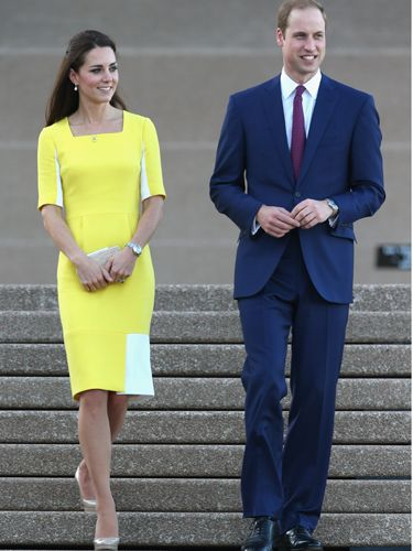 "<p>British-based designer Roksanda Ilincic has made restrained elegance with a modern twist her signature. She's the perfect choice for Kate - this sunny gown with contrast panelling adds a bit of fashion cred to Kate's default demure look.</p> <p><strong>MORE ROYAL SHENANIGANS:</strong></p> <p><a href=""http://www.cosmopolitan.co.uk/fashion/kate-middletons-royal-style-109645?click=main_sr"" target=""_blank"">KATE MIDDLETON'S ROYAL STYLE CV</a></p> <p><a href=""http://www.cosmopolitan.co.uk/celebs/celebrity-gossip/kate-middleton-prince-william-george-photo?click=main_sr"" target=""_blank"">BABY GEORGE'S FIRST OFFICIAL PIC</a></p> <p><a href=""http://www.cosmopolitan.co.uk/love-sex/cosmo-centerfolds/prince-harry-william-lookalikes-naked-centrefolds?click=main_sr"" target=""_blank"">THE PRINCES STRIP FOR COSMO</a></p>"