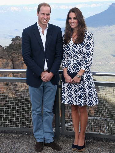 "<p>The Duchess looks chic in a Diane Von Furstenberg wrapover dress, which she teamed with her faithful cork wedge heels and a clutch bag.</p> <p><strong>MORE ROYAL SHENANIGANS:</strong></p> <p><a href=""http://www.cosmopolitan.co.uk/fashion/kate-middletons-royal-style-109645?click=main_sr"" target=""_blank"">KATE MIDDLETON'S ROYAL STYLE CV</a></p> <p><a href=""http://www.cosmopolitan.co.uk/celebs/celebrity-gossip/kate-middleton-prince-william-george-photo?click=main_sr"" target=""_blank"">BABY GEORGE'S FIRST OFFICIAL PIC</a></p> <p><a href=""http://www.cosmopolitan.co.uk/love-sex/cosmo-centerfolds/prince-harry-william-lookalikes-naked-centrefolds?click=main_sr"" target=""_blank"">THE PRINCES STRIP FOR COSMO</a></p>"