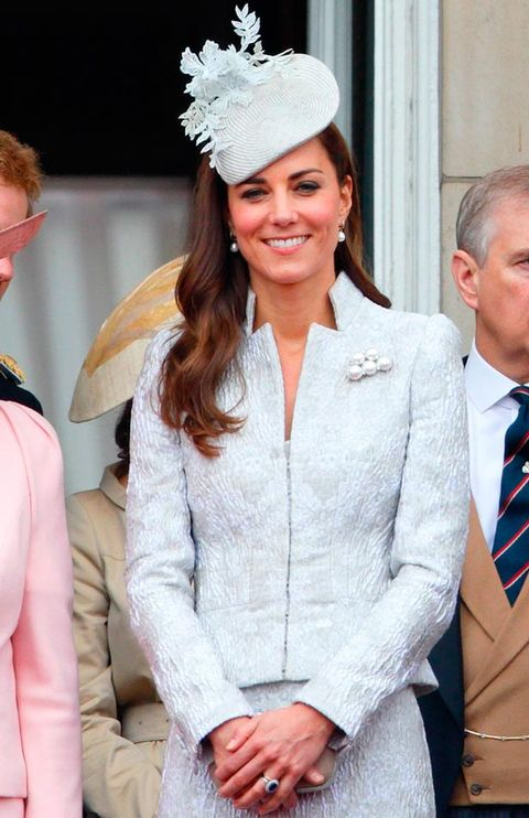 "<p>Kate turned to Alexander McQueen and Jane Taylor for one of the most important days in her royal calendar.</p> <p><strong>MORE ROYAL SHENANIGANS:</strong></p> <p><a href=""http://www.cosmopolitan.co.uk/fashion/kate-middletons-royal-style-109645?click=main_sr"" target=""_blank"">KATE MIDDLETON'S ROYAL STYLE CV</a></p> <p><a href=""http://www.cosmopolitan.co.uk/celebs/celebrity-gossip/kate-middleton-prince-william-george-photo?click=main_sr"" target=""_blank"">BABY GEORGE'S FIRST OFFICIAL PIC</a></p> <p><a href=""http://www.cosmopolitan.co.uk/love-sex/cosmo-centerfolds/prince-harry-william-lookalikes-naked-centrefolds?click=main_sr"" target=""_blank"">THE PRINCES STRIP FOR COSMO</a></p>"