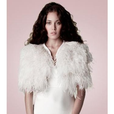 """<p>A striking ostrich feather cape by Charlie Brear will infuse your bridal look with timeless glamour.</p><p>Ostrich feather cape, <a href=""""http://www.charliebrear.com/products/1930-1-sandwashed-silk"""" target=""""_blank"""">CharlieBrear.com </a></p><p><a href=""""http://www.cosmopolitan.co.uk/fashion/shopping/12-incredible-high-street-wedding-dresses-budget"""" target=""""_blank"""">BEST BRIDAL GOWNS FROM THE HIGH STREET </a></p><p><a href=""""http://www.cosmopolitan.co.uk/fashion/shopping/short-bridesmaids-dresses-wear-again-uk"""" target=""""_blank"""">SHORT BRIDESMAID DRESSES YOU CAN WEAR AGAIN </a></p><p><a href=""""http://www.cosmopolitan.co.uk/fashion/shopping/v-a-wedding-dress-bridal-exhibition-pictures-2014"""" target=""""_blank"""">IN PICTURES: V&A WEDDING DRESS EXHIBITION</a></p>"""