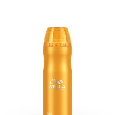 "<p>We need to lather up from head to toe on both our hair and limbs, but instead of wasting space with two bottles, get your wash and shampoo in one. Wella has a silky, sudsy lather that cares for sun-stressed skin, removing chlorine and salt water whilst putting moisture back in. Rub it in all over after a day stretched by the pool and let the invigorating scent get you prepped for evening drinks. <br /><br /><a href=""http://www.lookfantastic.com/wella-professionals-sun-hair-body-shampoo-250ml/10620676.html"" target=""_blank"">Wella Professionals Sun Hair & Body Shampoo, £7.95</a></p>